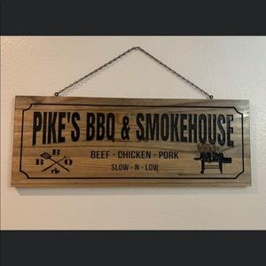 Custom wood bbq sign. All hand made